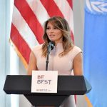Melania Trump Touches Down In Accra Today
