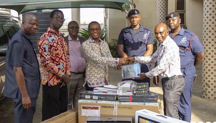 COP Donates Audio-Visual Equipment To Ghana Police Service