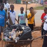 Ofankor Children Clean Their Environment On Independence Day