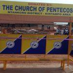 Apostle Gideon Debrah Dedicates Ntankoro Bus Stop Shelter