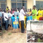 A-Lang Worship Centre Clears Filth, Donates Bins To Odorgonno SHS