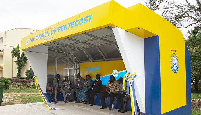 Asokwa Area Constructs Bus Stop Shelter For KNUST