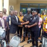 Techiman Area Donates Two Motorbikes To Police