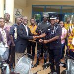 Techiman Area Donates Two Motorbikes To Police