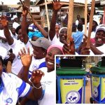Ahwiaa District Women's Ministry Donates Waste Bins To Ahwiaa Community