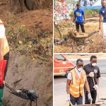 General Secretary Leads Clean-Up Exercise At Airport City Enclave