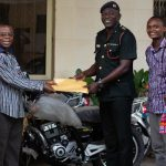 Burma Camp Worship Centre Donates 3 Motorbikes To Missions Office