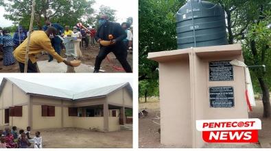 Dabo District Dedicates 2 Boreholes, 3 Church Buildings (1)a