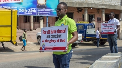 "Bubuashie District Youth Embark On ""Placard Evangelism"""