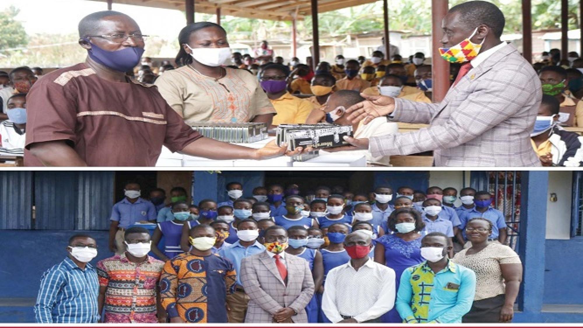 Djankrom District Donates Educational Materials To BECE Candidates pix1