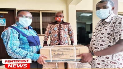 PENTSOS Tradmaco Distribute Blood Collection Tubes To Pentecost Health Facilities1