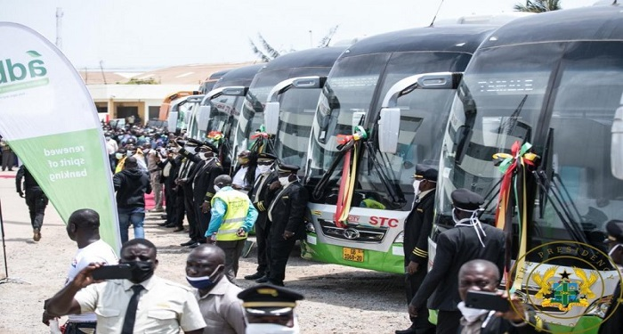 President Akufo-Addo Presents 100 Buses To STC Coaches Limited