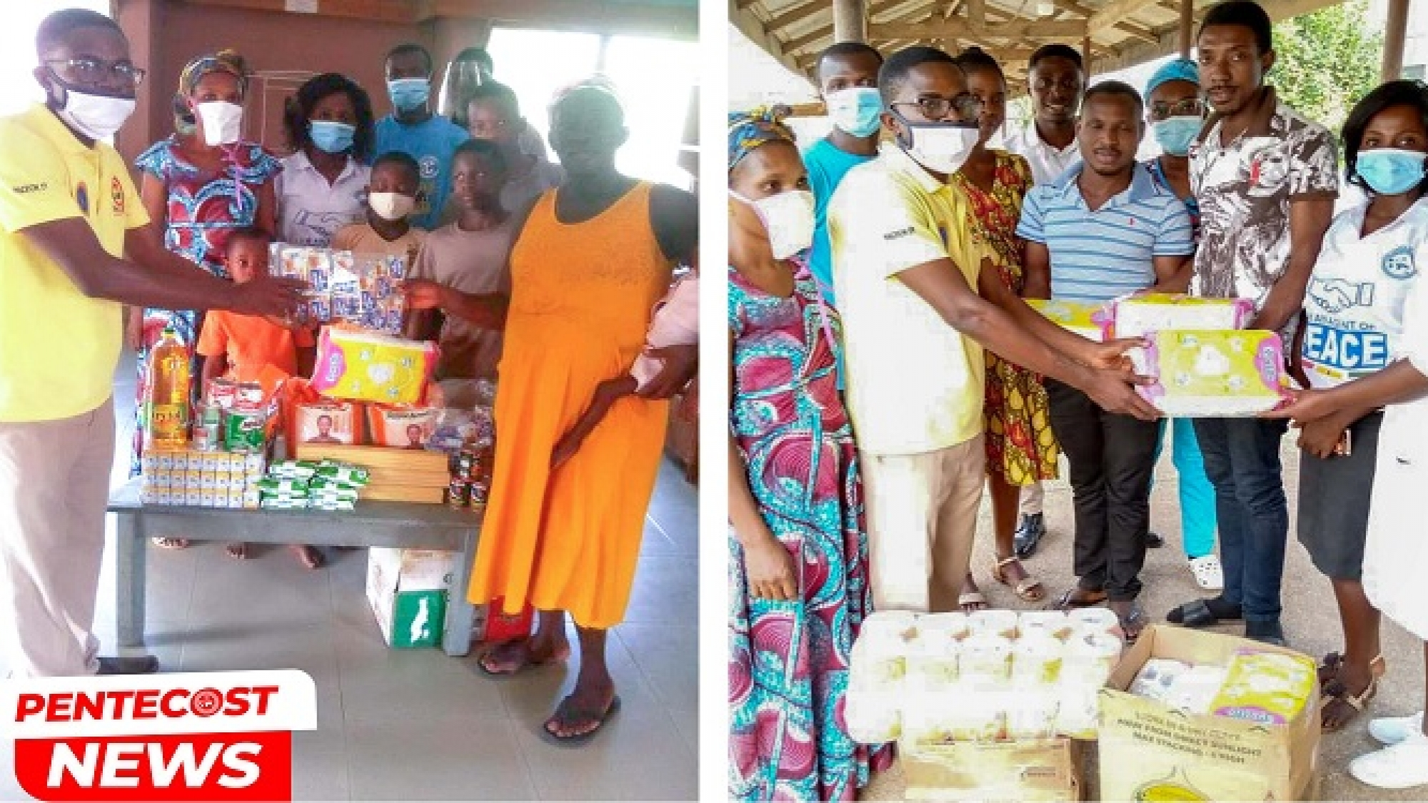 Afram Plains Area Childrens Ministry Donates To Donkorkrom Presbyterian Hospital Orphanage 1