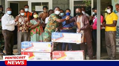 CoP Kamina Barracks District Donates To Military Hospital-A