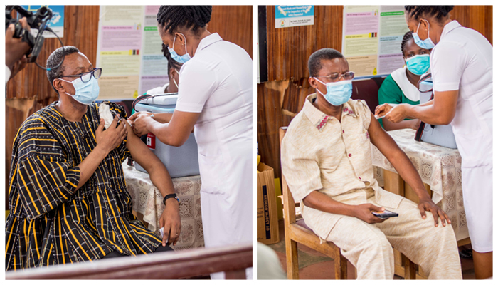 General Secretary, IMD, Area Heads In Greater Accra Get Vaccinated