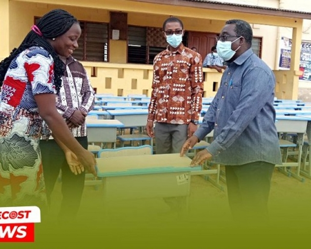 Sakumono PIWC Donates 50 Desks To Winneba PPS 02