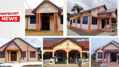 Five church buildings